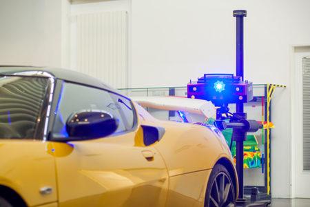 3d měření karoserie auta