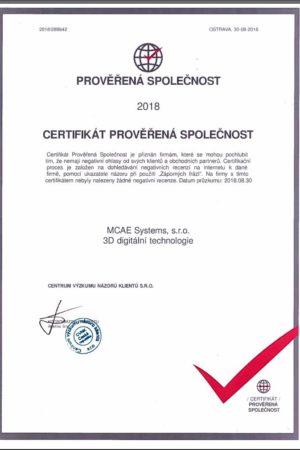 certifikat mcae 2018