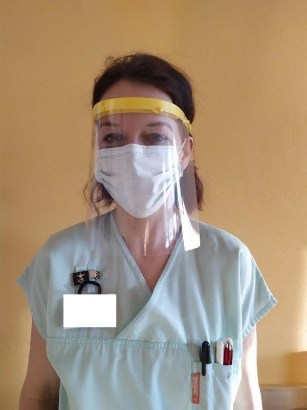 3d tisk ochranného štítu na obličej v praxi