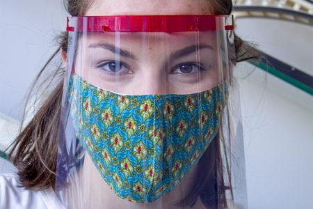 3d tisk ochranného štítu na obličej