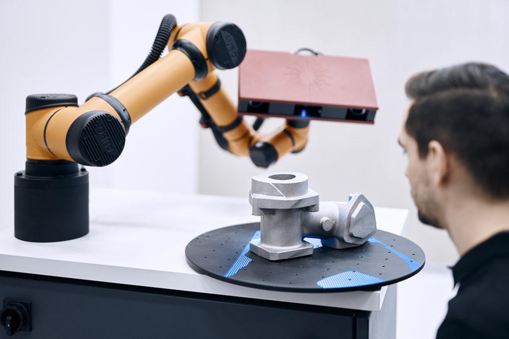 Automatizace 3d optické měření scancobot