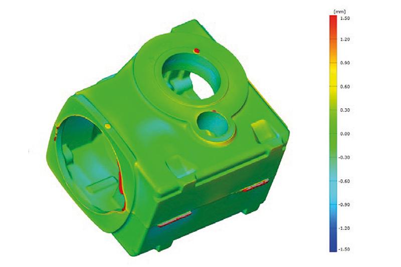 srovnání odchylek 3d optického měření