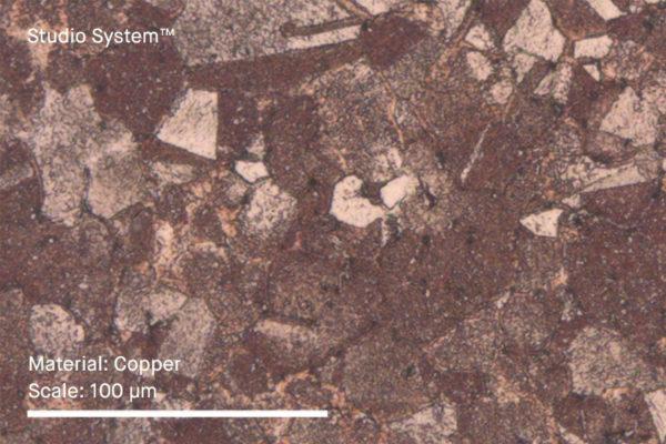 měď mikroskop struktura