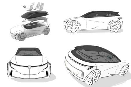 návrh auta