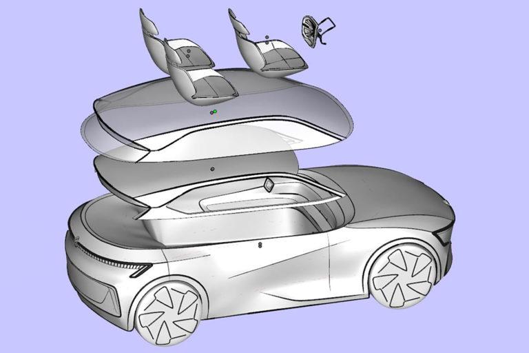 3D model auta prototyp diplomova prace