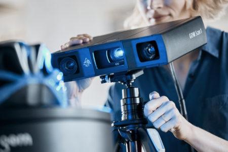 3D optický skener gom scan 1 one