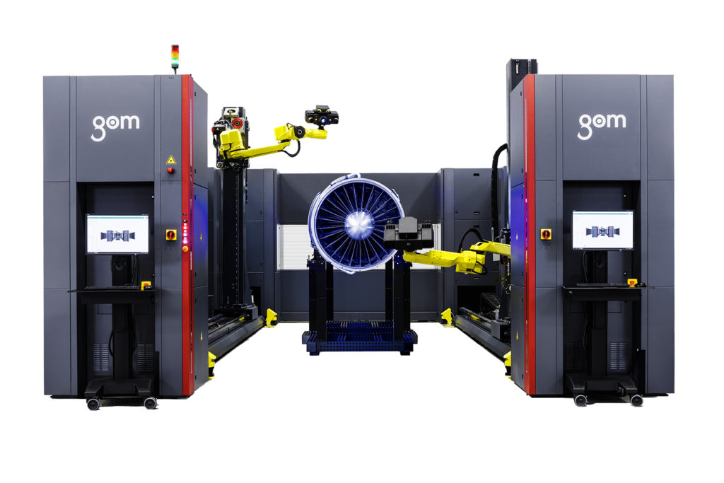Automatizované měření GOM ATOS ScanBox 8