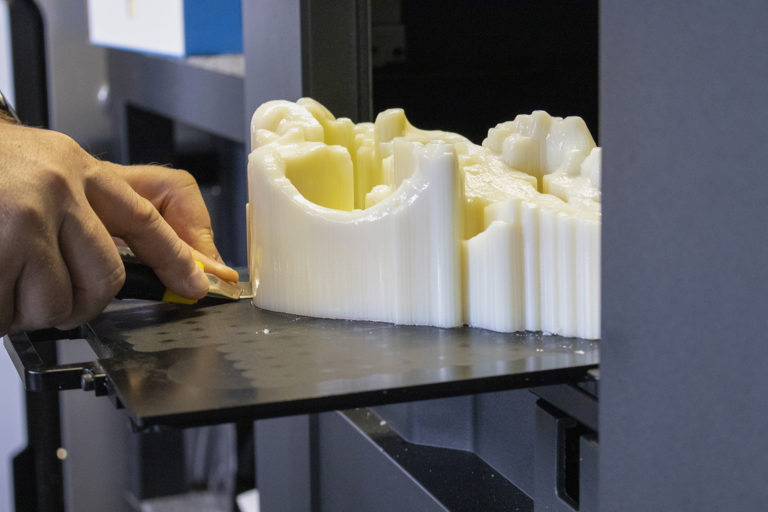 3D tisk lebky vlka archeopark