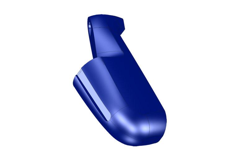 obal na saxofon vytvořený v CAD