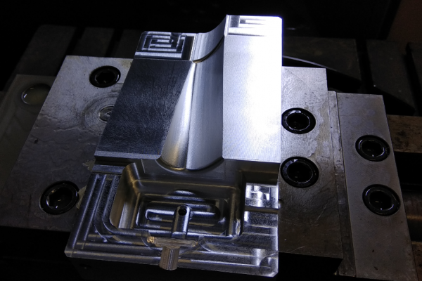 Forma pro voskový model lopatky turbíny